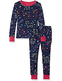 Hatley Long Sleeve Printed Sets, Pyjamas Fille, Rose