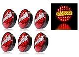 3Paar 6x 12V 24V LED Recovery hinten Schwanz Lampen Leuchten Trailer LKW Truck Chassis Kippmulde