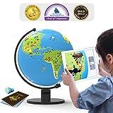PlayShifu Shifu Orboot: el Globo Educativo con Base de Realidad Aumentada | Juguete Stem para niños y niñas de 4 a 10 años | Regalo Ideal para niños (sin fronteras o Nombres en el Globo)