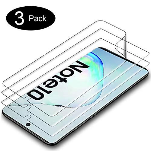A-VIDET 3 Stück Schutzfolie für Samsung Galaxy Note 10,Fingerabdruck kompatibel, Hüllenfreundlich, Klar HD Weich TPU Displayschutz Schutz Displayfolie