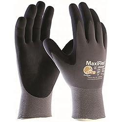 10 Paires de MaxiFlex Ultimate - gants de travail enduits nitrile, Taille:XL
