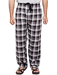 Twist Men's Blue And Navy Blue Checked 100% Cotton Pyjama Sleepwear Night Wear With Contrast & Free Shipping