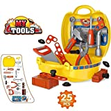 #4: higadget Tool Set Toys for Kids Pretend Play Set Engineer Pretend Play Toolbox Construction Tools Role Play Engineer Workshop Tool Kit