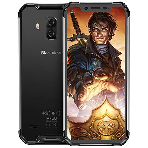 Blackview BV9600Pro Robust Handy,Helio P60 Prozessor 6GB RAM+128GB IP69K Outdoor Smartphone,19:9 Amoled 6.2 Zoll Display 16MP+8MP+8MP Dual kameras,Globales 4G-Netzwerk Kabelloses Laden,Schwarz