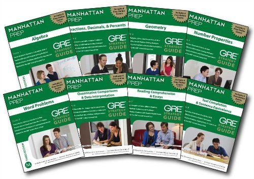 Manhattan Prep GRE Set of 8 Strategy Guides, 3rd Edition (Instructional Guide/Strategy Guide) 3rd by Manhattan Prep, - (2012) Paperback