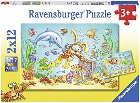 Ravensburger - 76031 - Puzzle Aventures De Plongée 2x12 Pièces   Stocker