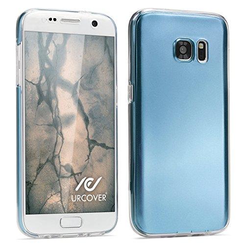 Urcover® Metalloptik Ultra Slim 360 Grad Edition | Apple iPhone 6 / 6s | TPU in Blau | Zubehör Tasche Case Handy-Cover Schutz-Hülle Schale Blau