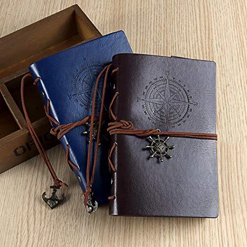 Kreative europäische Reisenotizbuch kleine tragbare Retro-A6 Loseblattnotizbuch Schreibwaren Leder Buch Tagebuch benutzerdefinierte - Benutzerdefinierte Handtaschen Aus Leder