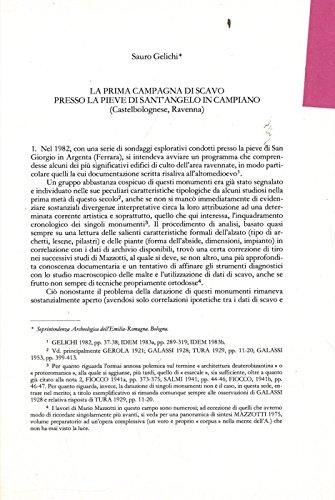 La prima campagna di scavo presso la pieve di Sant'Angelo in Campiano (Castelbolognese, Ravenna) .