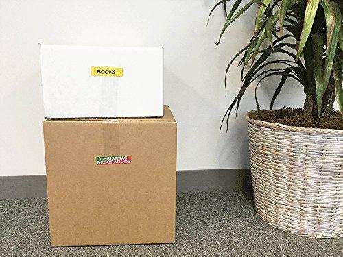 Almacenamiento Movimiento Caja Pegatinas, 25 mm x 102 mm 1 x 4 Pulgadas Rectángulo, 10 Hojas de 15 Pegatinas, 150 Etiquetas Totales