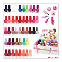 48 x NAIL POLISH VARNISH SET 45 DIFFERENT BRIGHT AND GLITTER COLOURS WHOLESALE JOB LOT