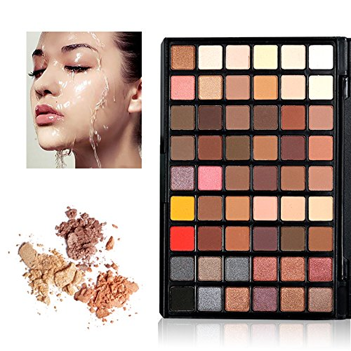 Best Pro Makeup Eyeshadow Palette, KRABICE Make-up Powder Metallic Shimmer and Matte Nudes Eye Shadow Palette Cosmetic 54 Colors Waterproof Makeup Eyeshadow Kit Set - #1
