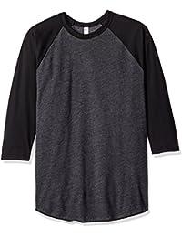 American Apparel Women's Poly-Cotton 3/4 Sleeve Raglan Shirt