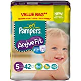 Pampers - 81371231 - Active Fit Couches - Taille 5 Junior - 11-25 kg - Format Economique x 42 Couches