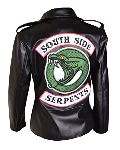 Jughead riverdale southside serpents v2 donna giacca in pelle da motociclista(s) nera