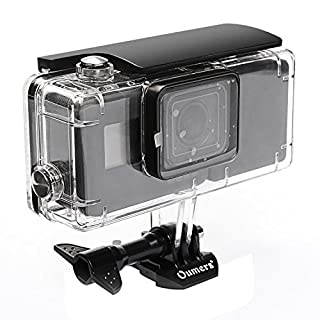 Oumers Housing Diving Case For GoPro Hero5 Black GoPro Hero6 with Extended Battery 2300mah & Bracket. Replacement Waterproof Diving Cover/Protective Case 45M Underwater Photography Shooting