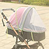 Queta aumentare il bambino auto Full crittografia insetti zanzariera bambino passeggino zanzariera Rattan Baby carriage Mosquito net (Green side)