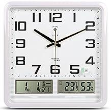 Reloj de Pared con Calendario, Silent Non Ticking Quality Quartz Operado con batería 20 Pulgadas
