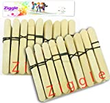 #5: Ziggle Animal Ice Cream Sticks 400 Pcs Wooden Ice Cream Sticks Popsicle Sticks (Pack of 400 Pcs)
