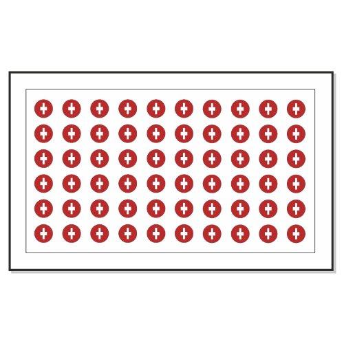 60 Drapeau de la Suisse Autocollants Tatouage Nail Art de transfert