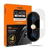 Spigen [4 paquetes], Cámara Trasera Lente Pantalla para iPhone X, Protector Cámara iPhone X, Cristal Vidrio para iPhone X (057GL23344)