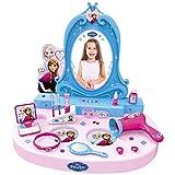 #1018 Disney Frozen Beauty Studio mit Kamm, Fön, Schmuck und Zubehör • Kinder Schminktisch Kosmetik Spielzeug Schminke Set ELSA