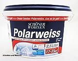 Schöner Wohnen 2,5 L. Polarweiss, extreme Deckkraft, Weiß Matt