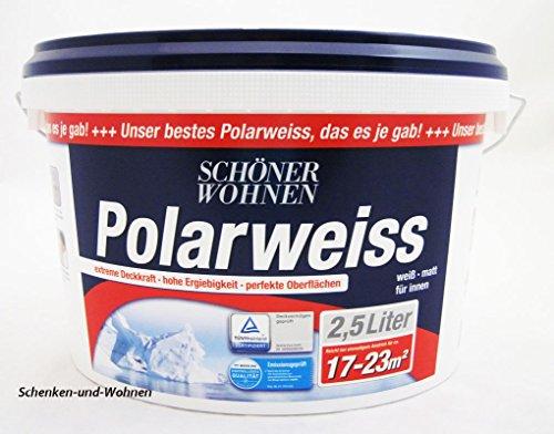 Preisvergleich Produktbild Schöner Wohnen 2,5 L. Polarweiss, extreme Deckkraft, Weiß Matt