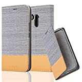 Cadorabo Book Case works with HTC U11 PLUS in LIGHT GREY