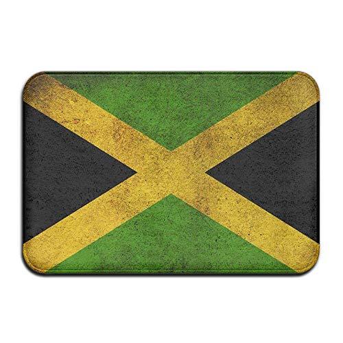 yting Jamaica Flag Welcome Fußmatte, 59,9 x 39,9 cm, für den Innen- und Außenbereich, Rutschfeste Matte für Eingangsbereich, Wohnzimmer, Schlafzimmer, Büro, Küche, Flur