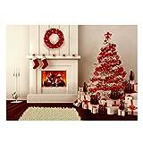 Werse 5x7ft Vinyl Weihnachtsbaum Kamin Geschenke Strumpf Hintergrund Fotografie Studio Hintergrund