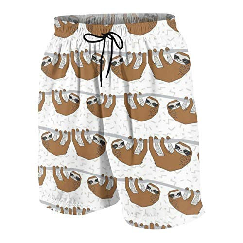 Pillow Socks Sloth Brown Boys Beach Shorts Quick Dry Beach Swim Trunks Kids Swimsuit Beach Shorts,Athletic Performance Basketball Shorts L - Cherokee Peelings