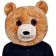 Cabeza de oso afelpada para adultos para disfraz
