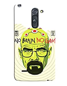 Blue Throat No Brain No Gain Printed Designer Back Cover/ Case For LG G3 Stylus