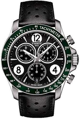 Tissot Herren-Uhren Analog Quarz One Size Leder 86963302