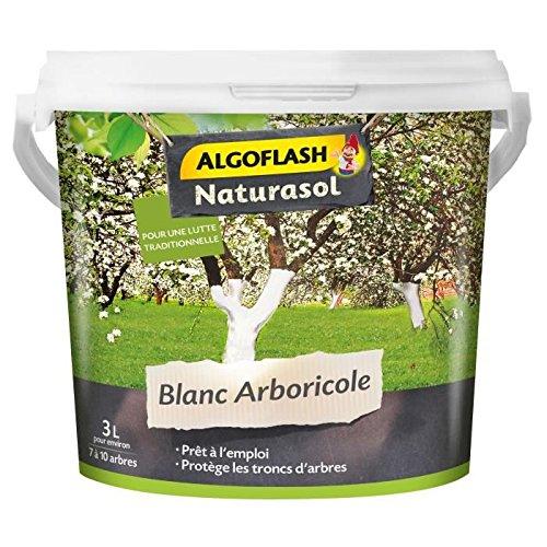 ALGOFLASH NATURASOL BIOBLAN3000A Arboricole - Seau 3 L, Blanc, 20 x 20 x 17.5 cm