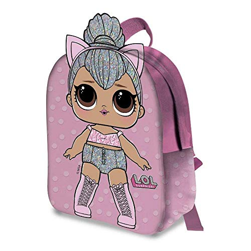 zaino LOL Surprise 2D Kitty Queen Bambina Asilo Borsa Scuola Tempo Libero - B99937MC