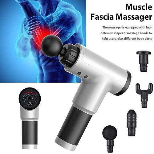 Massagepistole Tragbare Handheld Deep Muscle Fascia Massagepistole Leistungsstarke kabellose Deep Tissue Muscle Relaxer Elektrisches Muskel-Faszien-Massagegerät Vibrationsmassagegerät zur Linderung vo