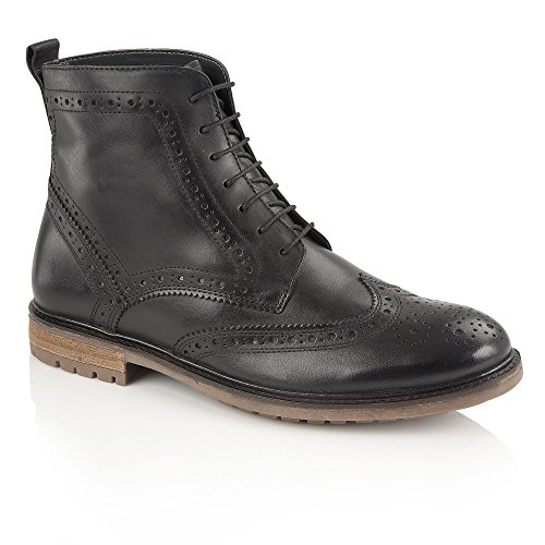 bb89fd4c6168 Silver Street London GERRARD Mens Leather Brogue Derby Boots Black UK 12 -  Buy Online in Oman. | Apparel Products in Oman - See Prices, Reviews and  Free ...