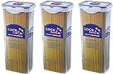 3 x & Lock Lock-Contenitore per alimenti, 2 l, Pasta, Spaghetti HPL819