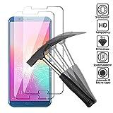 2 x Huawei Honor View 10 Verre trempé protecteur d'écran, EJBOTH téléphone protection écran haute définition cribler des films protecteurs pour Huawei Honor View 10 - ultra-résistant avec une dureté 9H Anti-bulle.