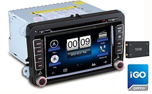 7 multimedia-sistema de navegación GPS del coche reproductor de DVD para VW,...