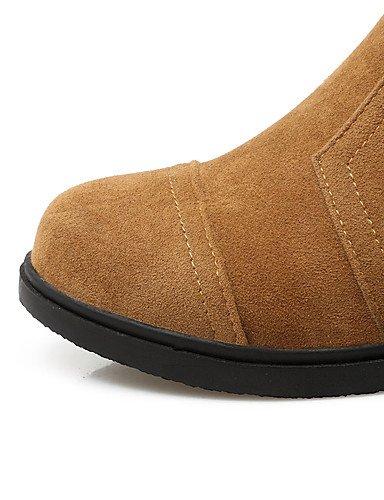 ShangYi Mode Frauen Schuhe Damen Stiefel Frühjahr / Herbst / Winter Fashion Stiefel / Boots Combat Kunstleder/ and Ferse OthersBlack / Gelb / Grau