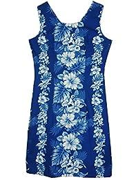KY's | Robe hawaïenne originale | S - XXL | Vêtements de citrouille | Hawaii Imprimer | Pétales d'hibiscus | Bleu