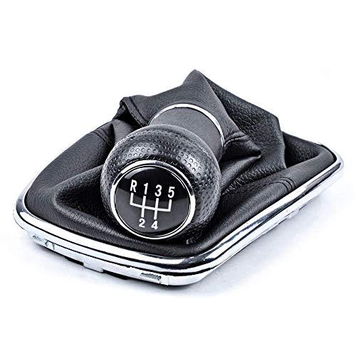 Schaltsack Schaltmanschette + Schaltknauf + Rahmen, OTUAYAUTO als Komplettset Plug Play Ersatzteil für Golf 4 Bora, ca 23mm, 5 Gang
