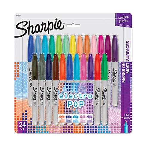 sharpie-permanent-markers-fine-point-24-pack-assorted-colors-electro-pop-limited-edition-1927350-by-