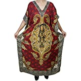Boho Chic Ladies Kaftan Dress Oversized Maxi Dashiki Printed Kimono Caftan Tunic Dress Free Size