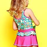 Perfashion Mädchen Einteiler Bowknot Drucken Kleid Badeanzug Blau 116