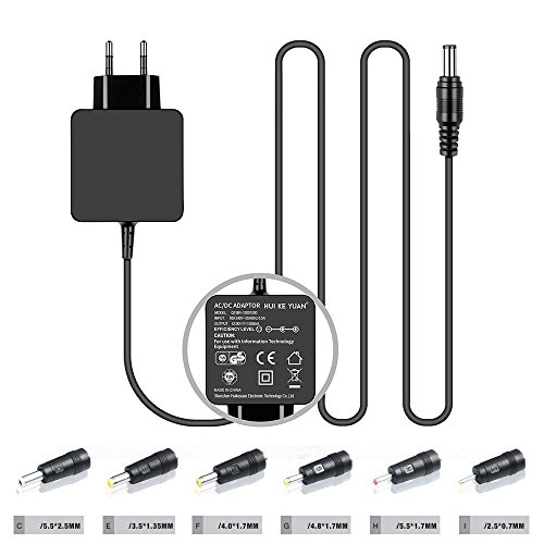 HKY 12V Universal Netzteil Ladegerät Schaltnetzteil für AVM FritzBox, Telekom,T-Com, Speedport, Radiowecker, USB-Hub, Scanner, Switch, Router, Externe Festplatte, POS, PC, Tablet, DVD Player