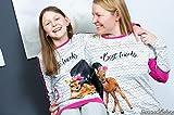 Lillestoff Jersey BFF Bestfriends Bambi schwarz weiß Zick